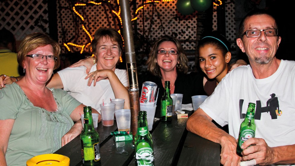In The Backyard Bar Restaurant Food and Drink Guide Antigua
