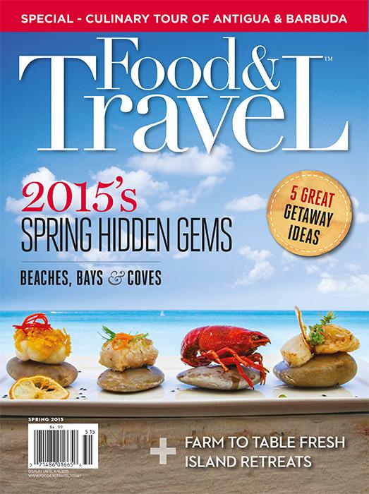 Food and Travel Quarterly cover Spring 2015 Antigua