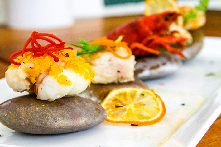 Rochelle Anthony seafood platter Sandals Grande Resort Antigua