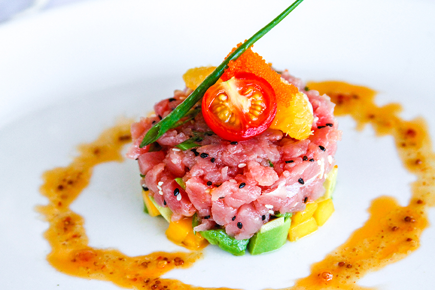 Layered Tuna Tartare with Avocado, Mango and Radish Salsa | Food and ...